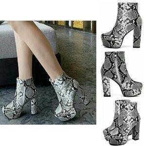 Shoes - 🔥 Platform snake bootie 7.5 - 8 NIB hot